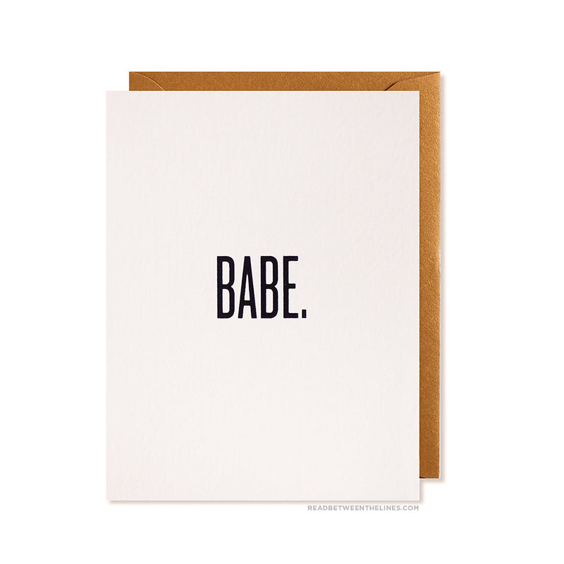 Babe. Card by RBTL®