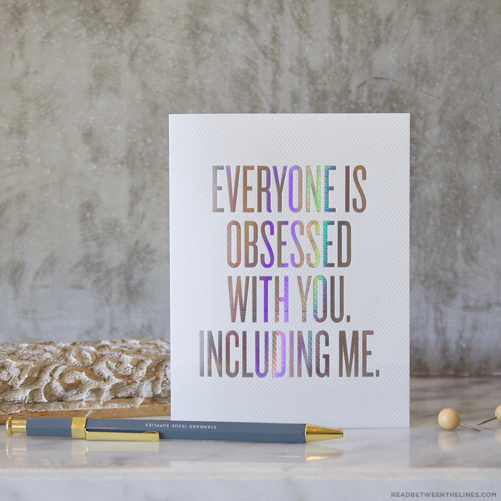Obsessed With You Card by RBTL®