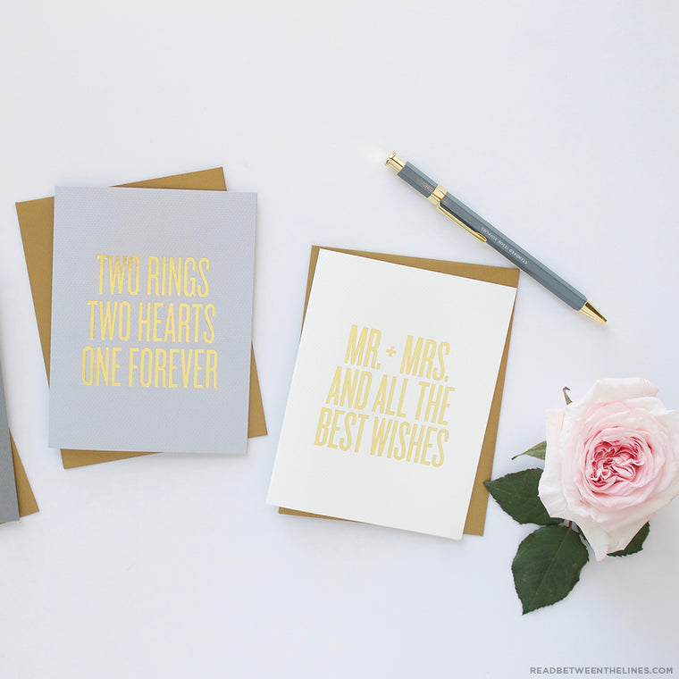 Mr. + Mrs. And All The Best Wishes Card by RBTL®