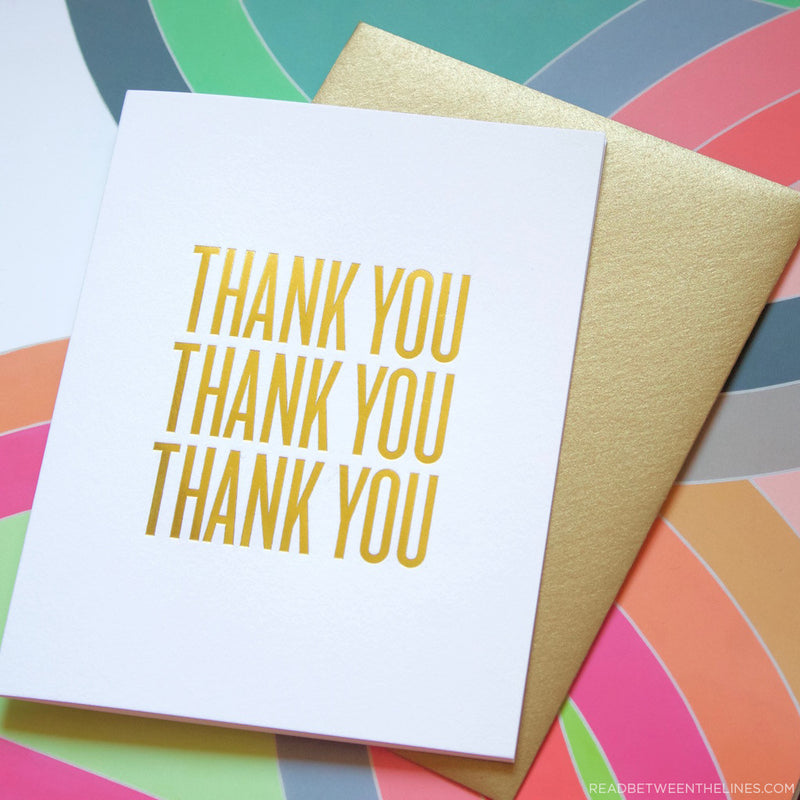 Thank You Thank You Thank You Card by RBTL®