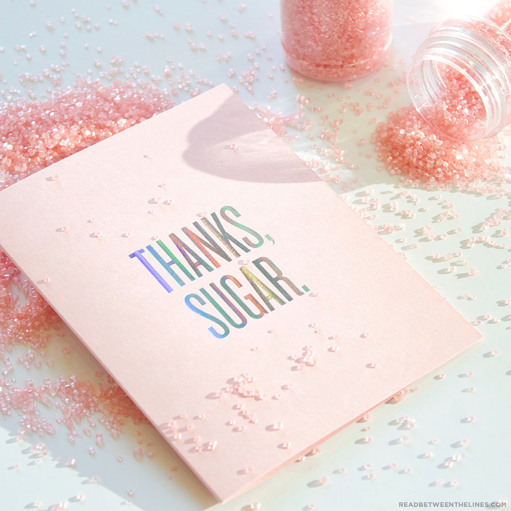 Thanks Sugar Card by RBTL®