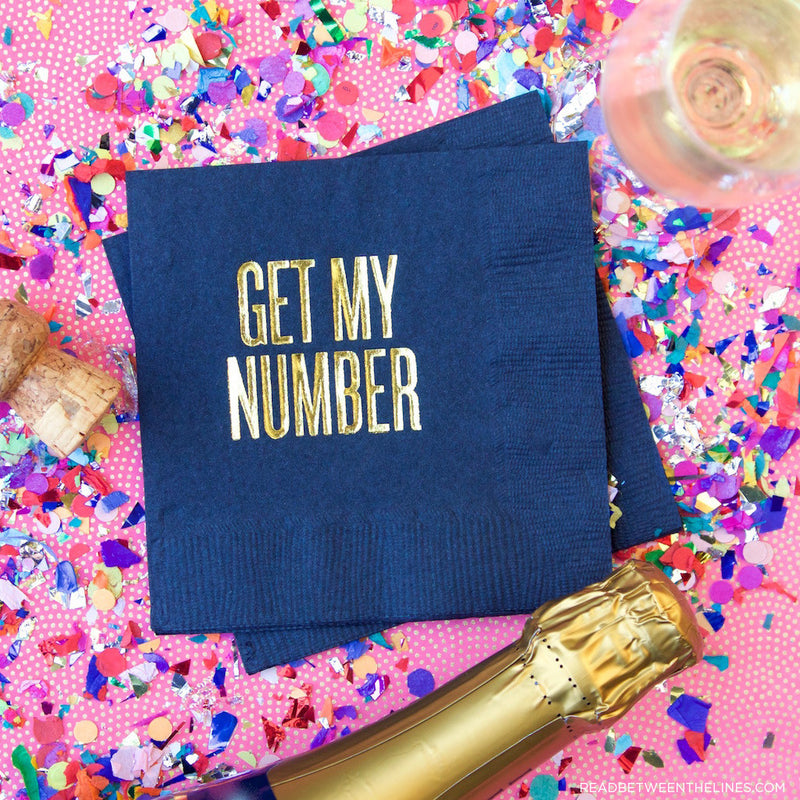 Get My Number Cocktail Napkins by RBTL®