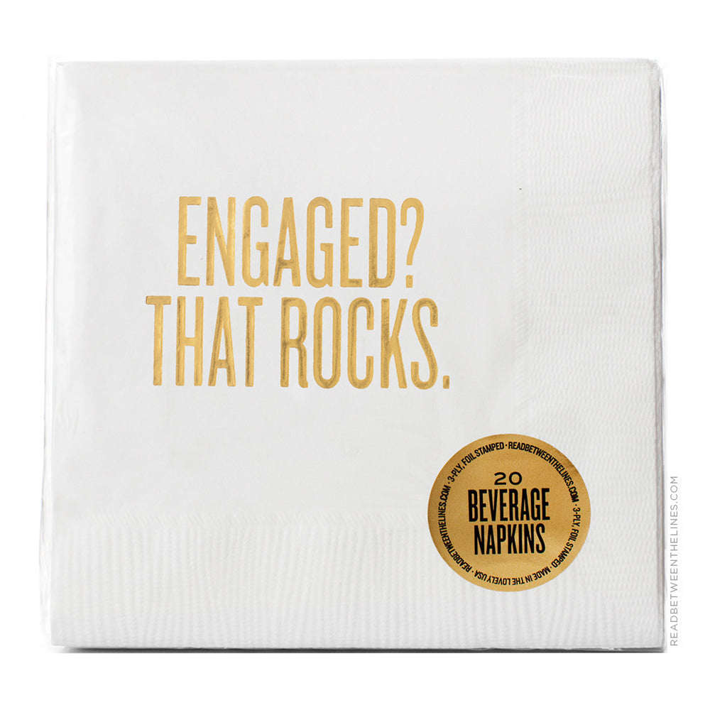 Engaged? That Rocks. Cocktail Napkins by RBTL®