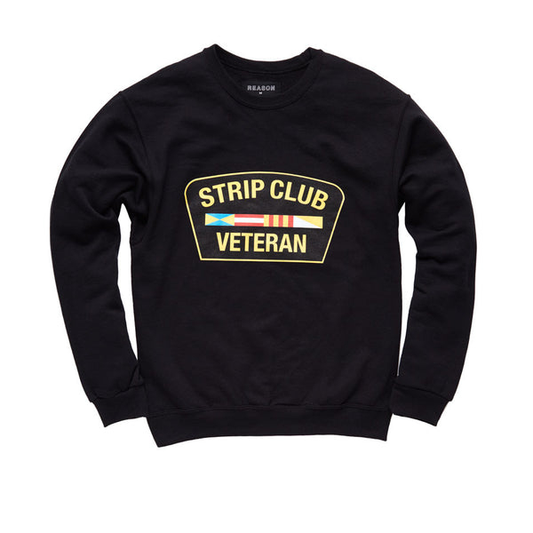 Strip Club Veteran Crewneck - Black
