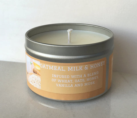 Oatmeal Milk & Honey Soy Candle - Round Tin