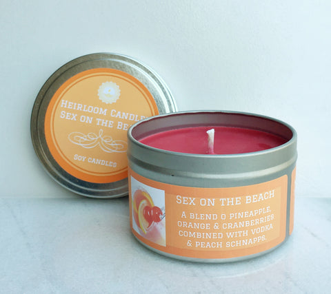 Sex on the Beach Soy Candle - Round Tin