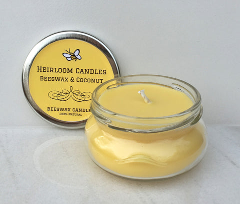 Beeswax Coconut Oil Unscented Candle
