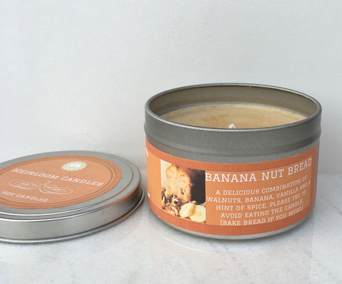 Banana Nut Bread Soy Candle - Round Tin