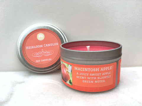 Macintosh Apple Soy Candle - Round Tin