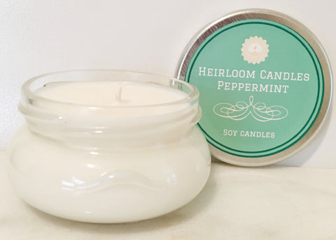 Pure Peppermint Essential Oil Soy Candle