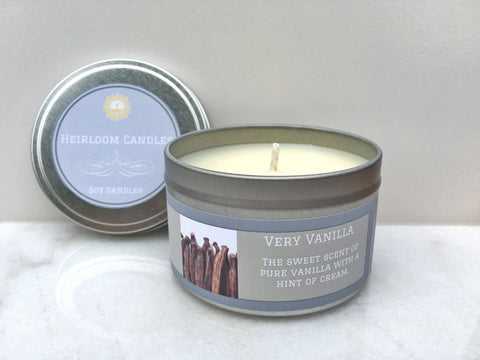 Very Vanilla Soy Candle - Round Tin