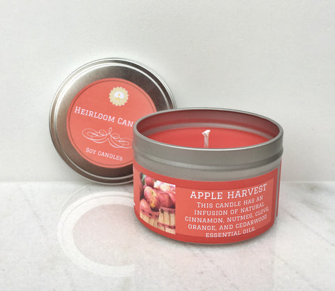 Apple Harvest Soy Candle - Round Tin