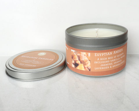 Egyptian Amber Soy Candle - Round Tin