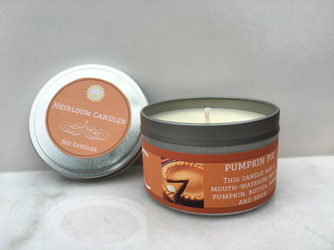 Pumpkin Pie Soy Candle - Round Tin