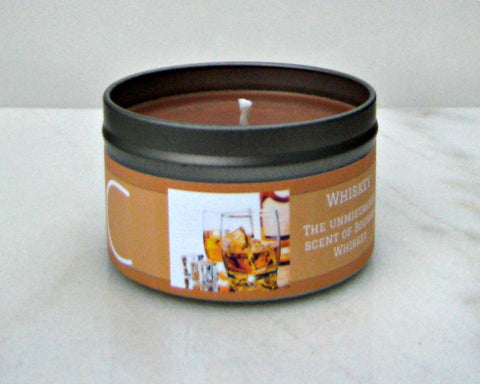 Whiskey Soy Candle - Round Tin