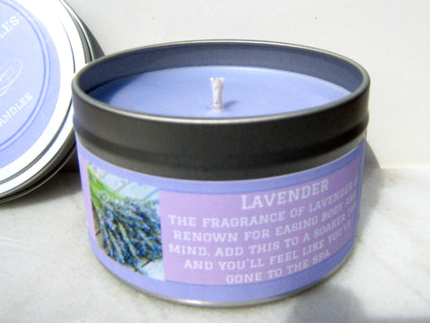 Lavender Soy Candle - Round Tin