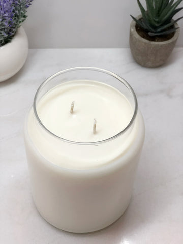 26oz Soy Candle in Apothecary Jar - Double Wicked - Cotton Wick