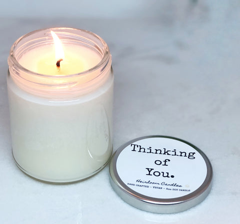 Thinking of You - Personalized Message Candle