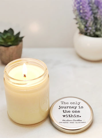 The Only Journey is the One Within - Inspirational Decor Gift Candle