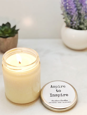 Aspire to Inspire Candle - Teacher Gift