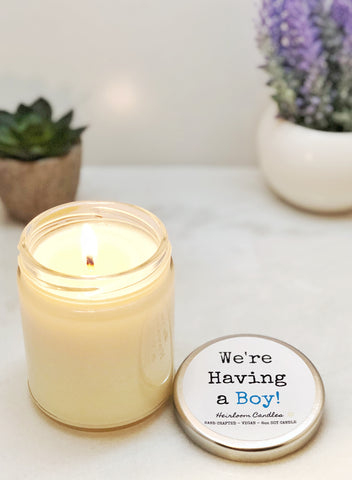 We're Having a Boy / Girl - Birth Announcement Gift Candles (multiple options)