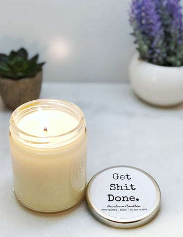 Get Shit Done - Funny Inspirational Decor Candle