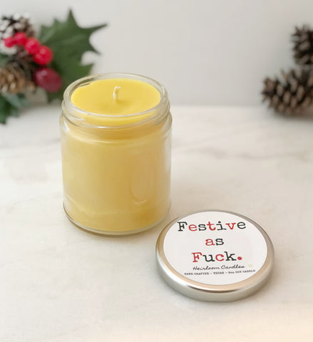 Festive as Fuck - Funny Christmas Gift Candle