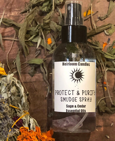 Protect & Purify Smudge Spray - Sage Smudge - Cedar Smudge