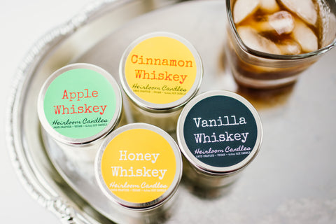 Whiskey Scented Soy Candles, 4.5oz
