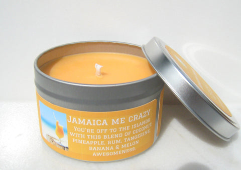 Jamaica Me Crazy Soy Candle - Round Tin