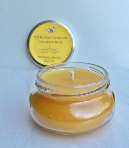 Cucumber Mint Pure Beeswax Candle