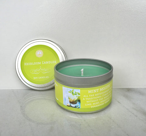 Mint Mojito Soy Candle - Round Tin