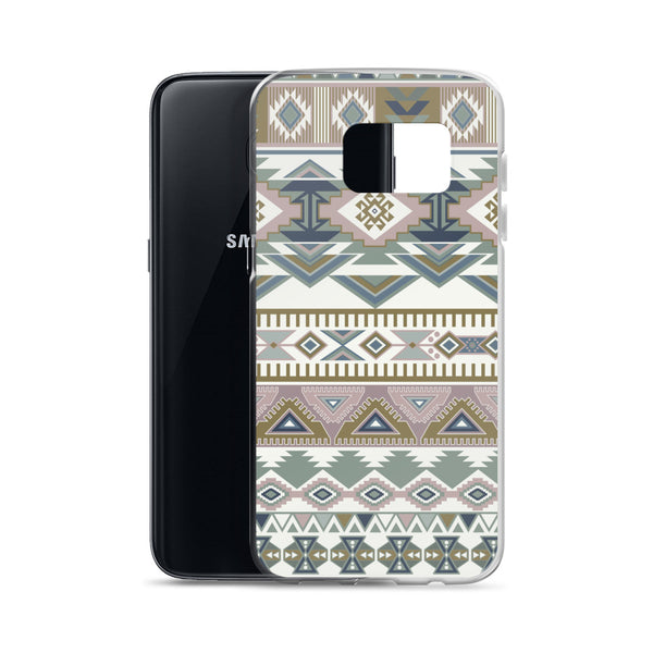 Gold/ Green Aztec Samsung Case