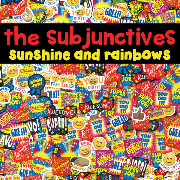 Sunshine and Rainbows - The Subjunctives LP/CD (PREORDER)