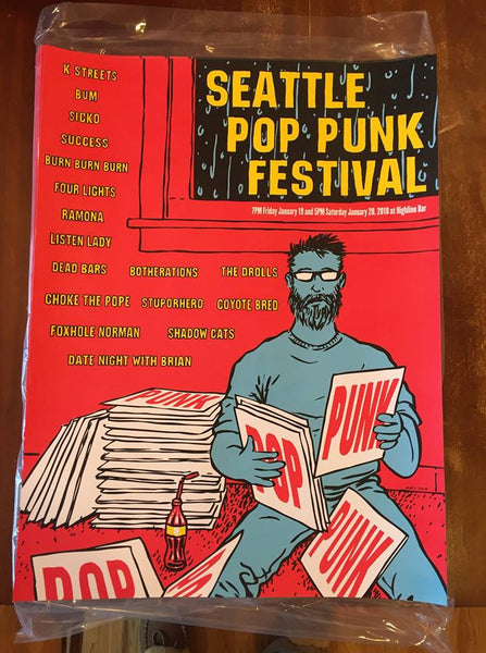 Seattle Pop Punk Festival 2018 Show Poster - Highline Seattle 1-19/20-18