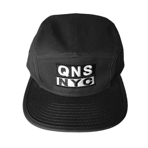QNS NYC 5 Panel Hat - Black