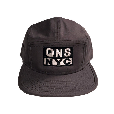 QNS NYC 5 Panel Hat - Grey