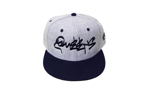 Queens Graffiti Classic Heather Snapback - Black