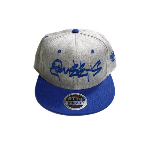 Queens Graffiti Classic Heather Snapback - Blue