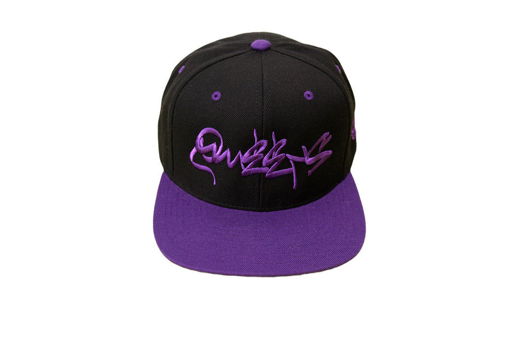 Queens Graffiti Snapback - Purple Reign
