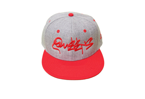 Queens Graffiti Classic Heather Snapback - Red