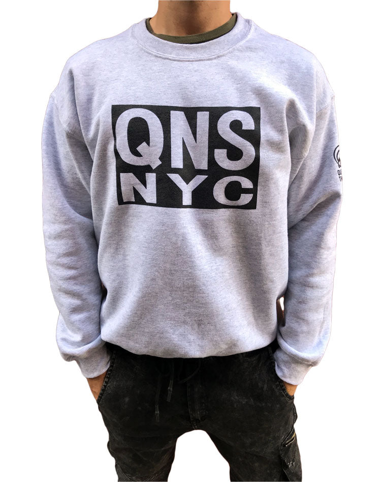 QNSNYC Box Crew neck - Ash
