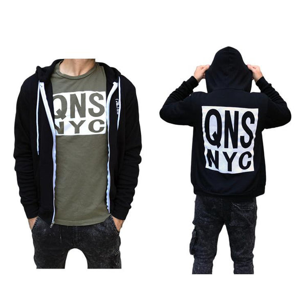 QNS NYC Premium Sponge Fleece Zip-Up Hoodie