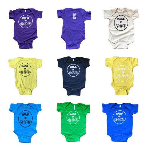 """Made in Qns"" Baby Onesie"