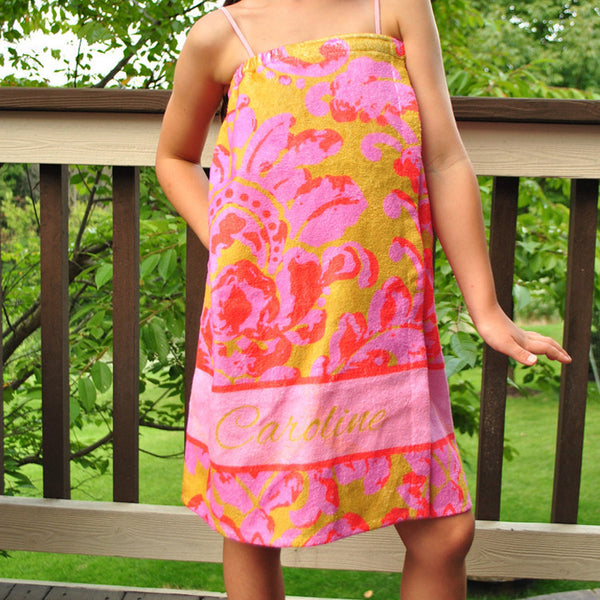 Youth Spa Wrap - Style #210003 Eleanor Coral Print
