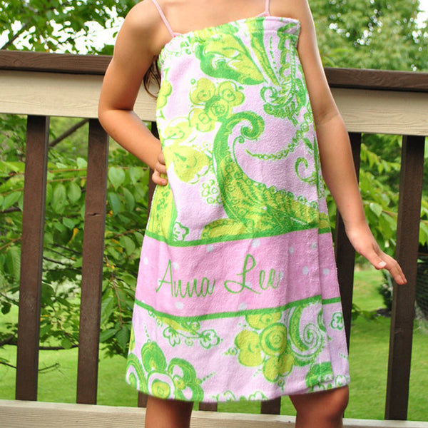 Youth Spa Wrap - Style #210004 Eleanor Lime Print