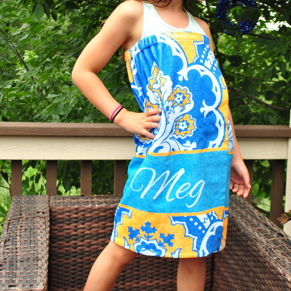 Youth Spa Wrap - Style #210008 Eleanor Royal Print