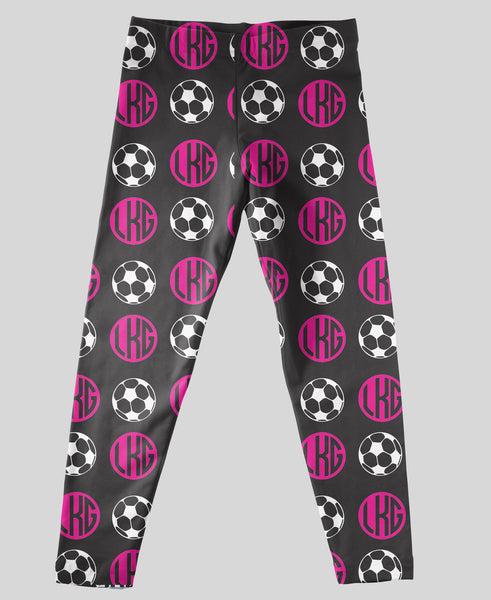 Youth Leggings - #214010 Soccer Black