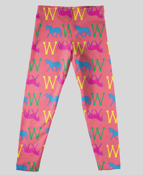 Youth Leggings - #214019 Unicorn Pink