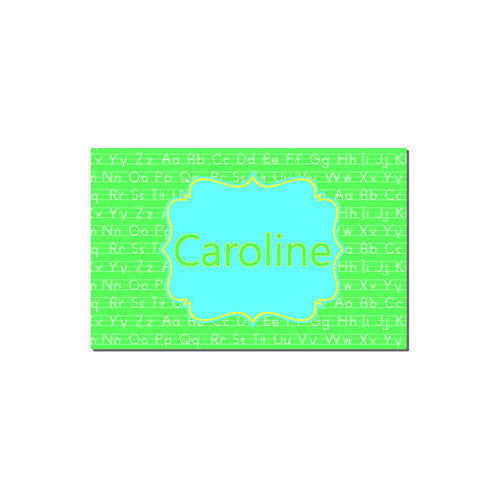 Neoprene Placemat - Style #310012 ABC's Lime & Aqua